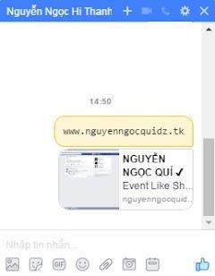 Cách nhắn tin chữ vàng facebook