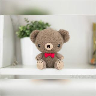 patron amigurumi Teddy de San Valentín all about ami