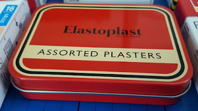Elastoplast new release vintage red tin