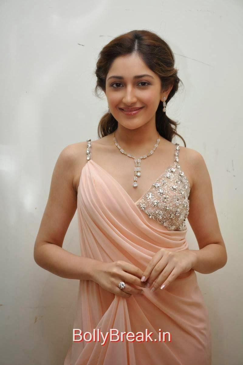 Tollywood Actress Sayesha Saigal, Sayesha Saigal Hot Pics from Akhil New Movie Launch Function