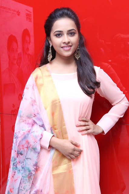 Actress SriDivya Latest Stills At Maaveeran Kittu Audio Launch