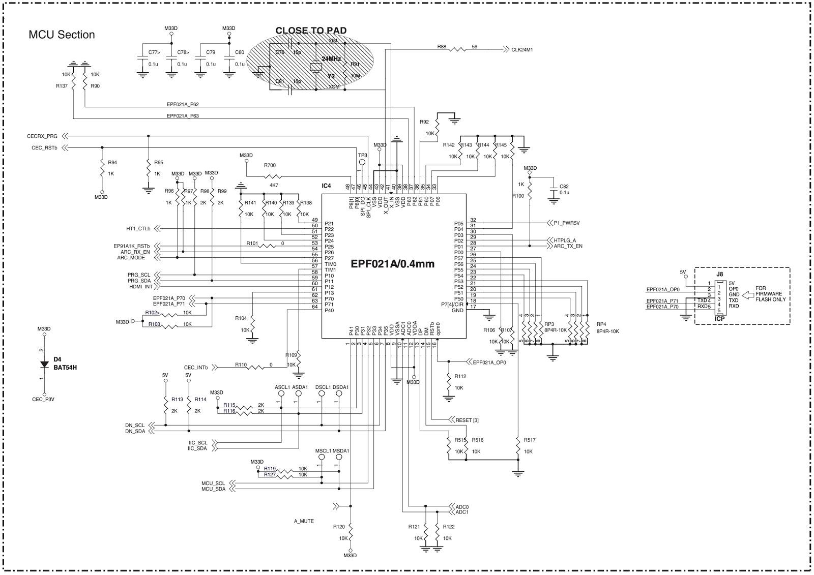 Sharp HTSL50 SOUND BAR HOME THEATER SYSTEM – Disassembly