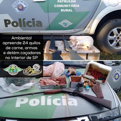 Policia Ambiental apreende carne de Paca em Sete Barras