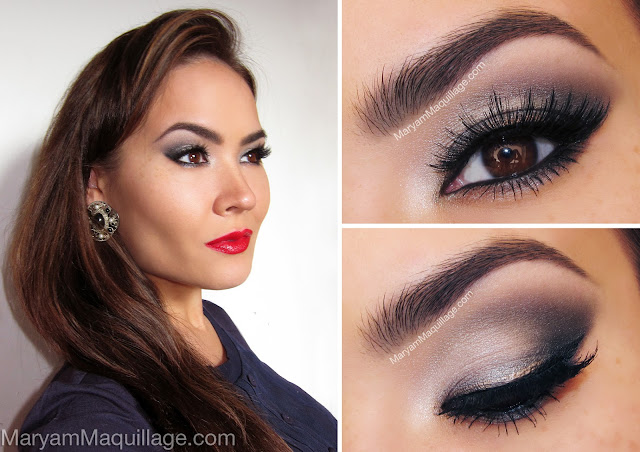 Silver Eyeshadow | Colorful Eyeshadow Tutorials For Brown Eyes