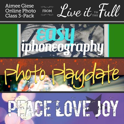 Aimee Giese Photo Classes with Live It To The Full