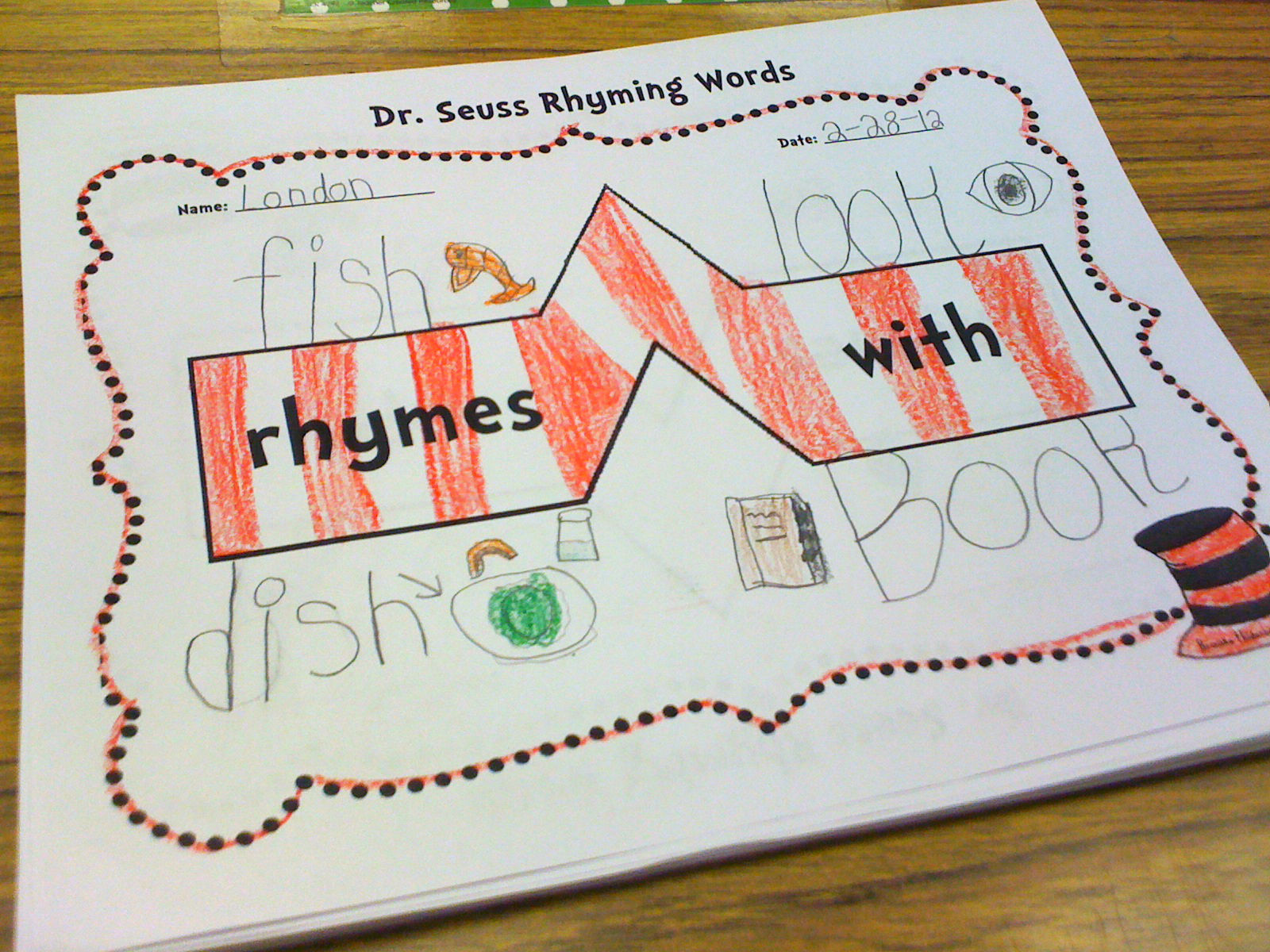 Once Upon a Learning Adventure: Seuss Rhyming Words Bridge Map-Freebie