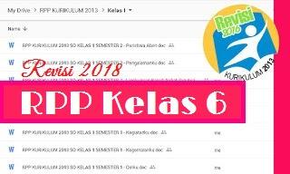 RPP Kelas 6 Kurikulum 2013 Revisi 2018 Semester 1 Tema Persatuan Dalam Perbedaan