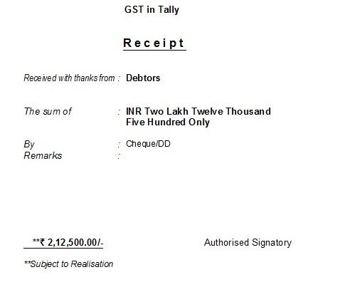 How to make a receipt voucher in Tally? - Tally Knowledge