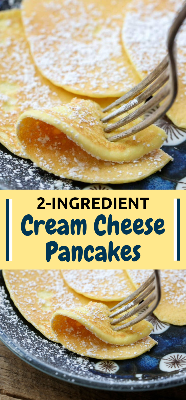 2-Ingredient Cream Cheese Pancakes #keto #healthyfood