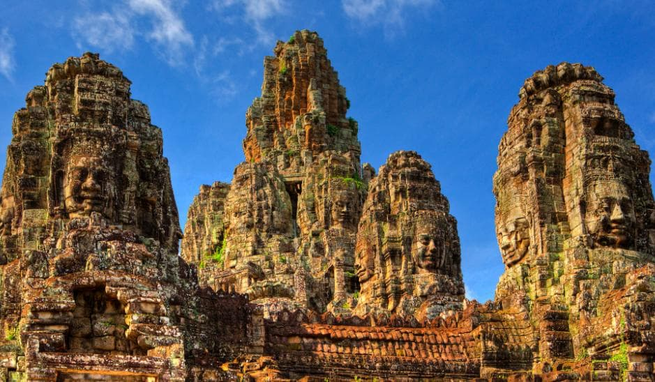 Angkor Thom has a charming and tender beauty