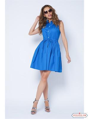 Vestido azul informales