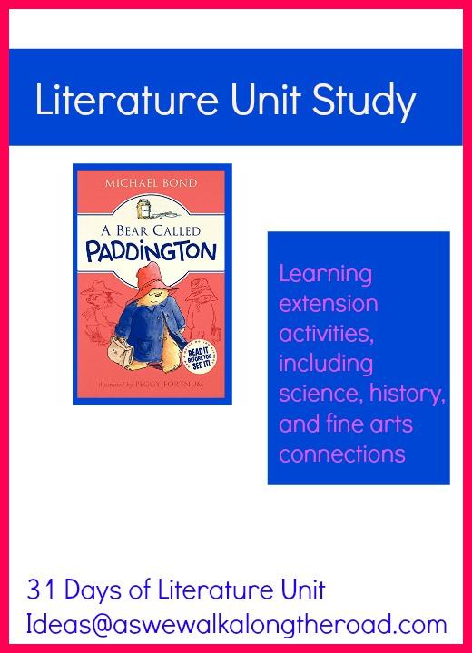 Literature unit study ideas for A Bear Called Paddington