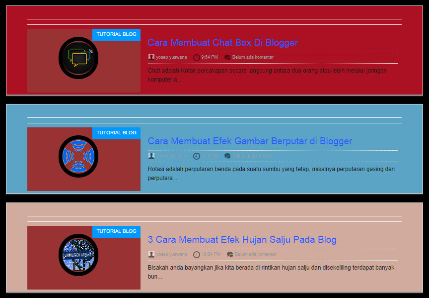 Background homepage dan Halaman posting berbeda warna
