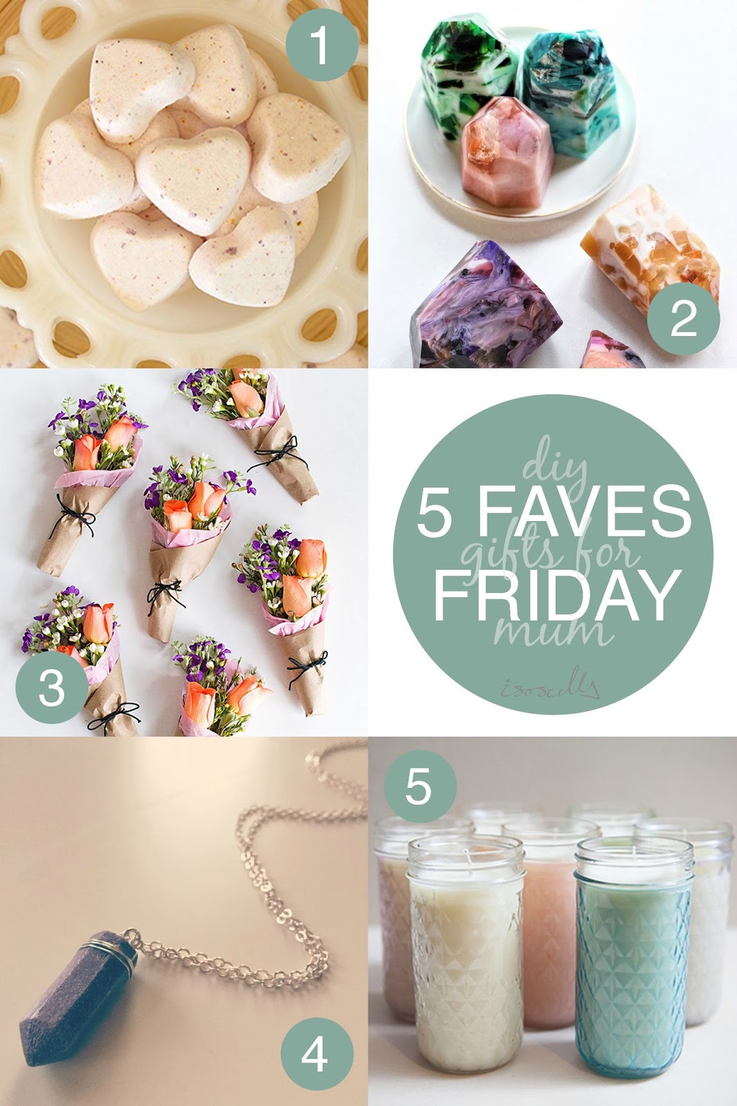 Five Faves Friday - DIY Gifts for Mum