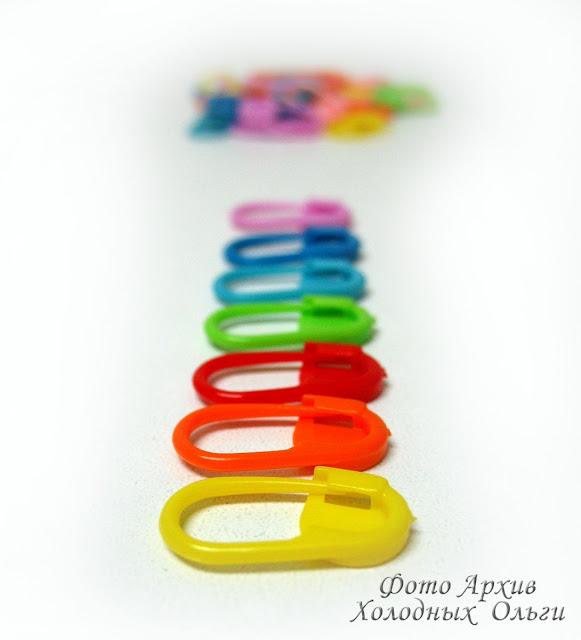 Цветные маркеры для вязания