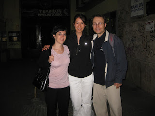 Anna and Florian dropping me off at my hotel after a night of lindy hopping