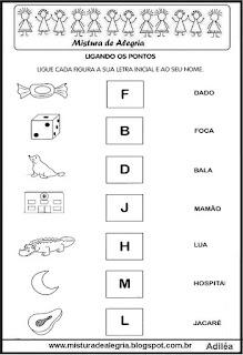 Ligar desenho com letra inicial