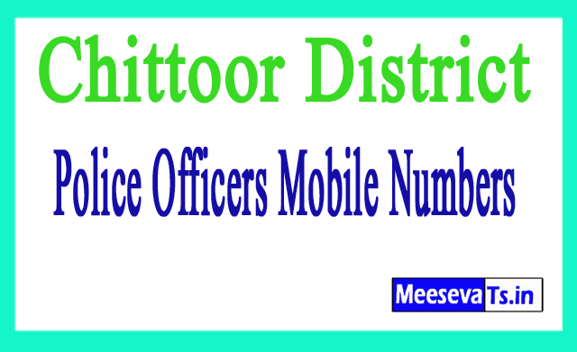Chittoor District Police Officers Mobile Numbers