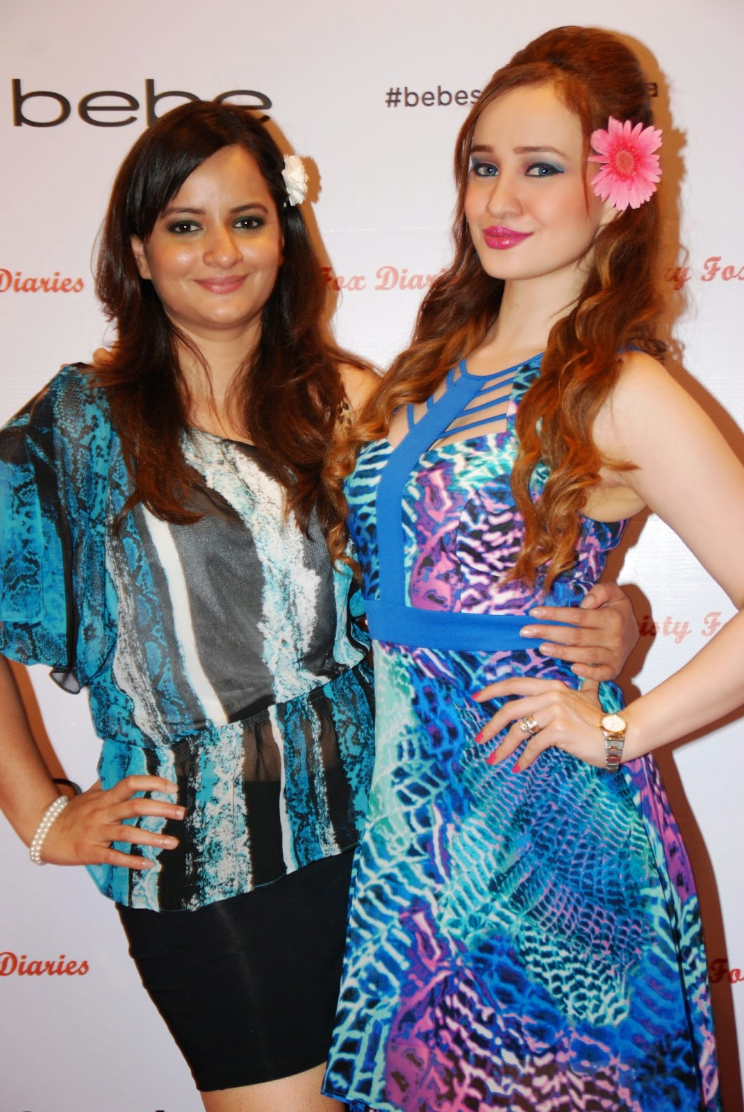 Bebe Brand Manager -Roma Manjrekar & Stephanie Timmins at the Bebe Tropic Rendezvous Event, Mumbai