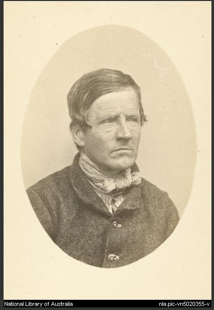 Prisoner mugshot of George Willis by T.J. Nevin 1873