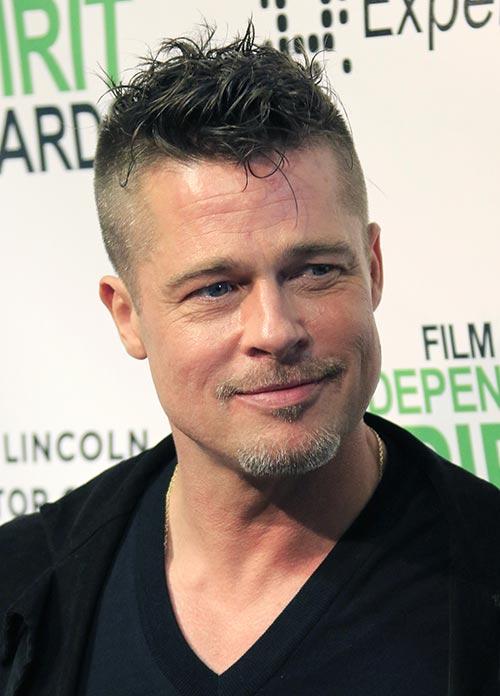 Celebrities Hairstyles Brad Pitt Hairstyles 2017
