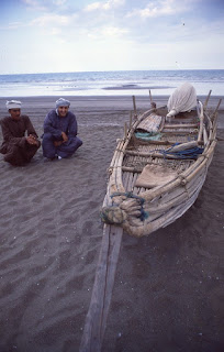 Mangrove root bundle boat, Oman