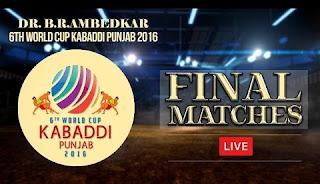 6th Kabaddi World Cup 2016 - Final Match Results, Best Raider, Best Stopper