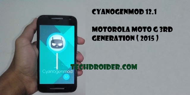 Cyanogenmod 12.1 ( Cm12.1 ) for Moto G 3rd generation ( 2015 )
