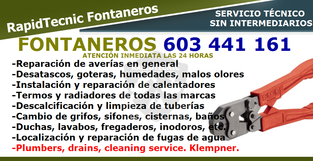 Rapidtecnic Alicante Fontaneros Urb Panorama Torrevieja 603 441 161