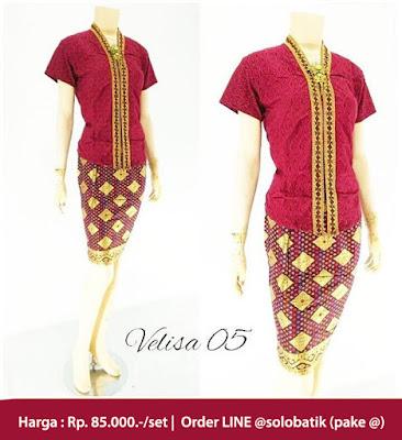 Rok dan Blouse Batik Velisa05 merah