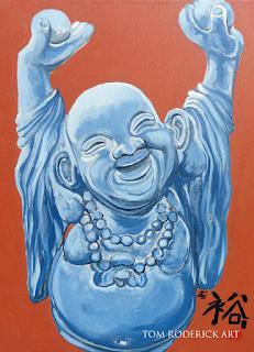 Abundance Buddha painting by Boulder artist Tom Roderick