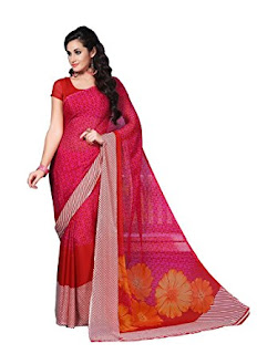 Pure-indian-chiffon-sarees-with-blouse-for-summer-for-girls-8