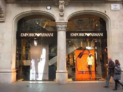 Emporio Armani store in Barcelona