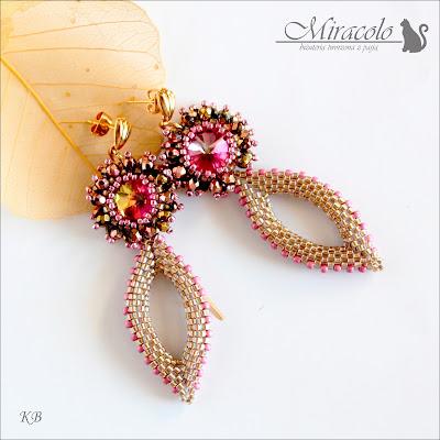 kolczyki, fagnano,  rivoli earrings,Miracolo