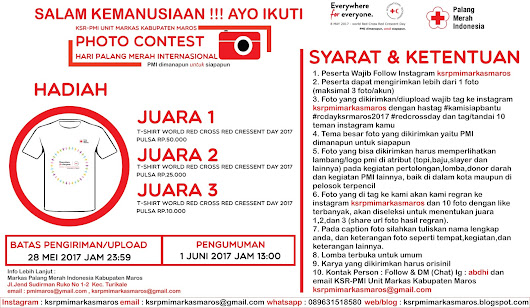 Photo Contest Internasional Red Cross Day 2017 KSR PMI Unit Markas Kabupaten Maros