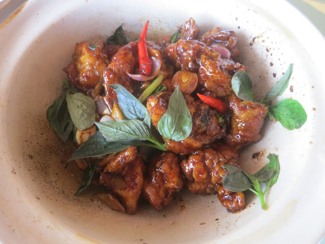 Stir-fried Chicken with Basil Leaves and Taiwanese Rice Wine