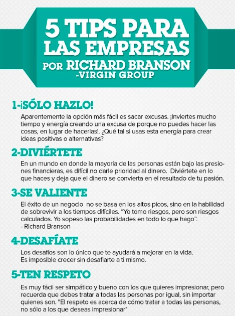 tips de Richard Branson
