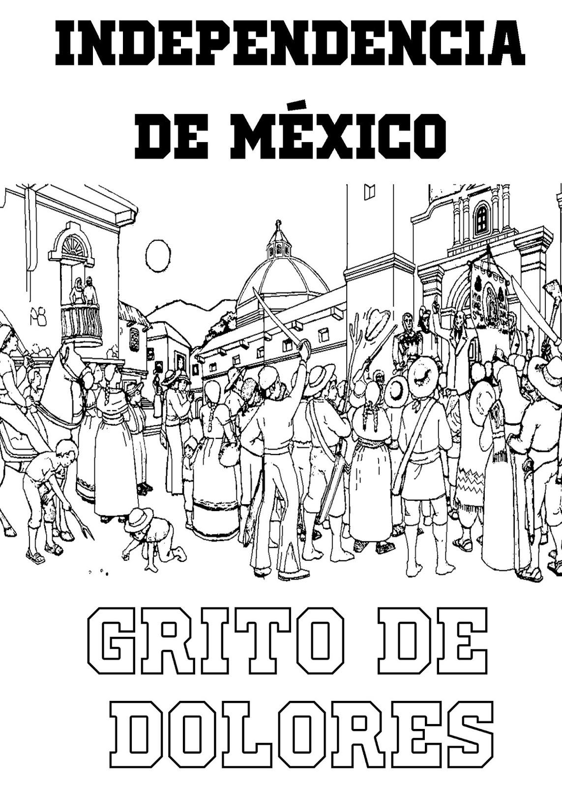 Pinto Dibujos Independencia De Mexico Para Colorear