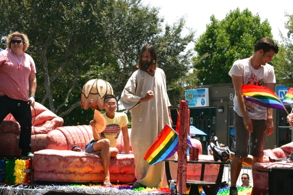 West Hollywood Pride Parade Jesus 2012