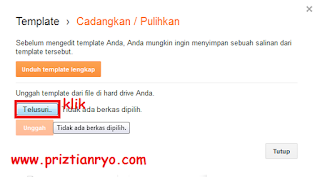 Cara Simple Mengganti Template Blog