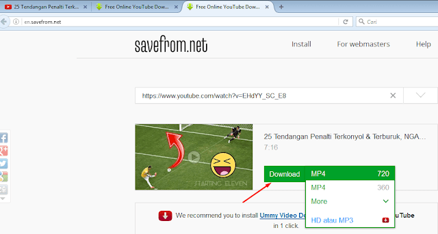 Download video tanpa software super cepat