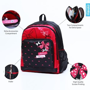 Minnie Red Backpack XL - Tas sekolah Ransel anak