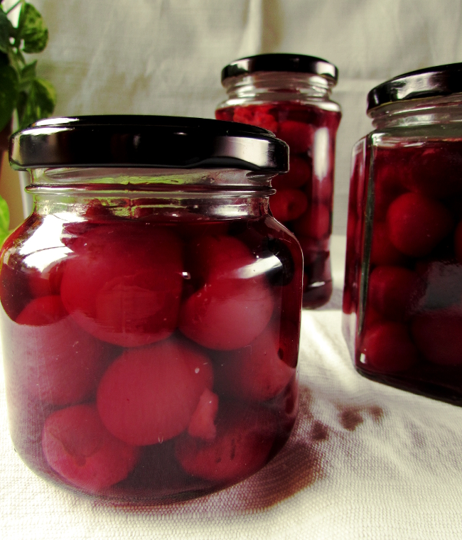 cherrys with sirup