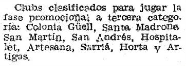 Recorte de Mundo Deportivo del 21 de diciembre de 1951