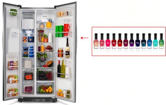 Esmaltes na geladeira