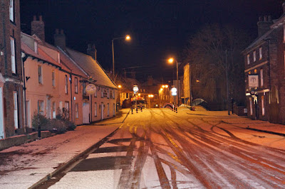 Snow on Bridge Street, Brigg, January 19, 2015 - see Nigel Fisher's Brigg Blog