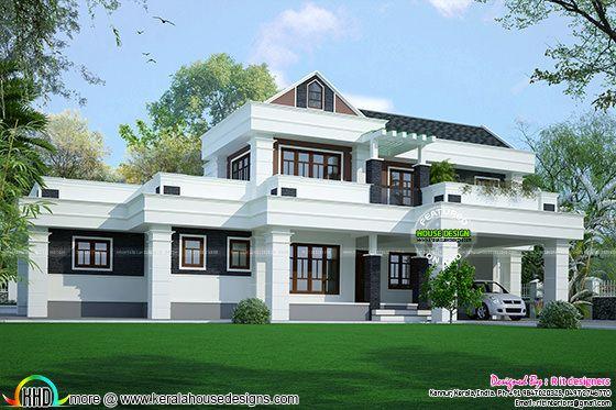 2788 sq-ft modern house in Keraa