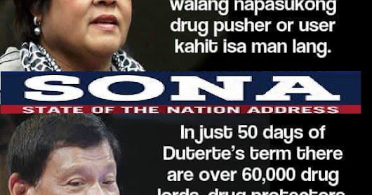 Alleged Drug Lord Protector Senator Leila De Lima is Not Proud of President Duterte on his SONA 2