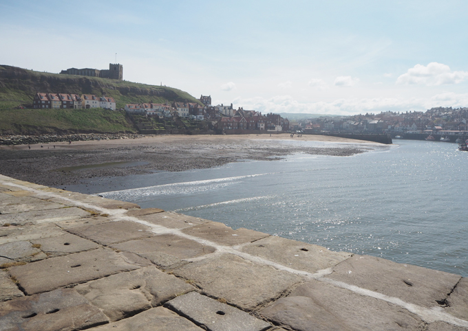 Travel Guide to Whitby Harbour view