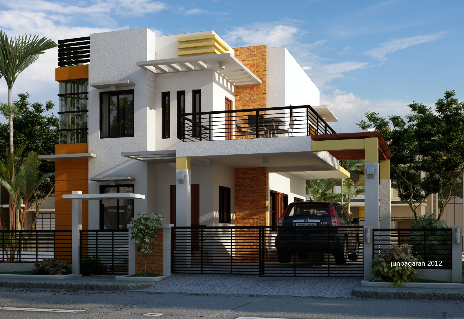 Rumah Minimalis Modern 2 Lantai Di Lahan Sempit 2017 Cafe Elwazeen